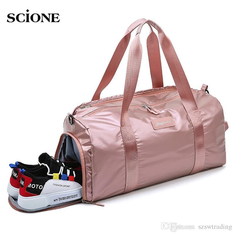 d38d602a1 2019 Pink Fitness Gym Bag Women Men Yoga Mat Handbag For Shoes Dry Wet Bags  Travel Training Gymtas Sac De Sport Sporttas Tas XA782WA #836611 From ...