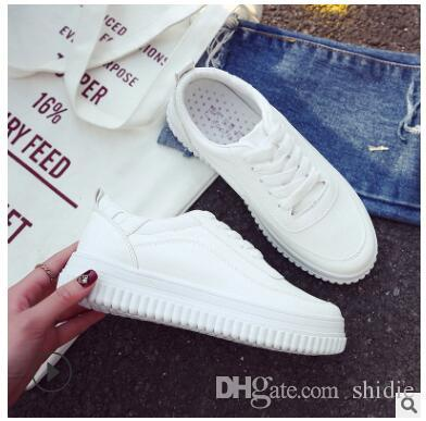 dd46f728 2019 Spring And Autumn Summer New Thick-soled White Shoes Female ...