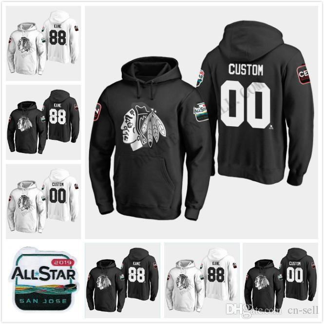 new product cf103 71674 Chicago Blackhawks 2019 All-Star Game Hoodie Jersey Duncan Keith Jonathan  Toews 88 Patrick Kane Corey Crawford Alex DeBrincat 00Griswold