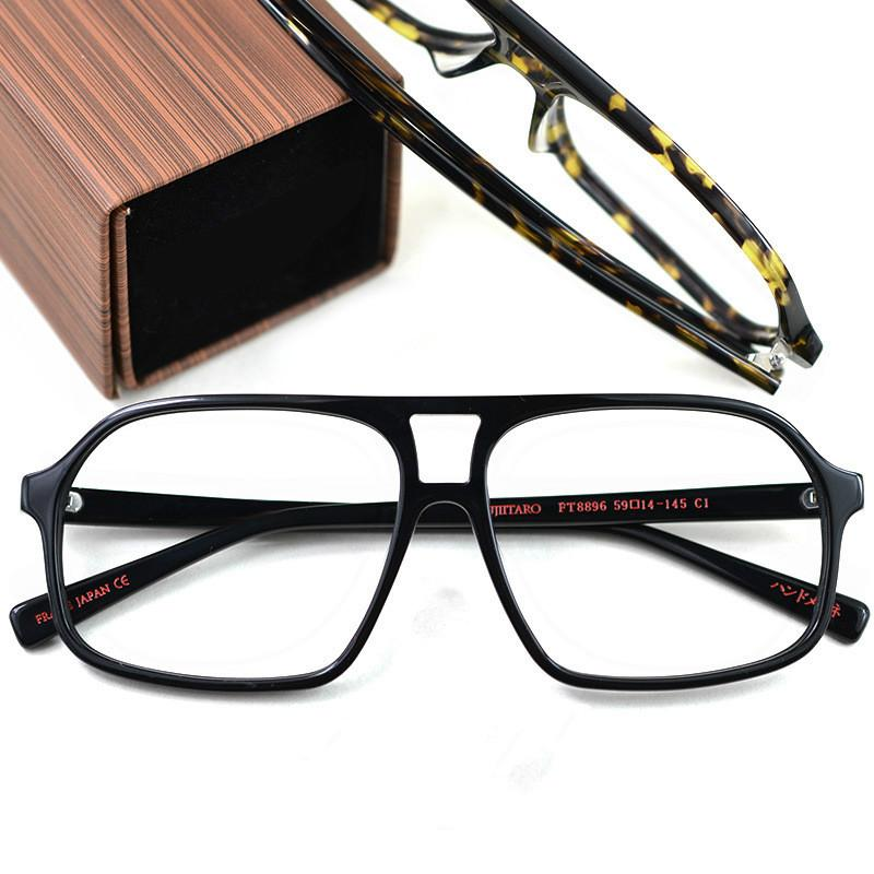 e02b91e460 Fujii Taro with Paragraph Square Retro Large Frame Glasses Frame ...