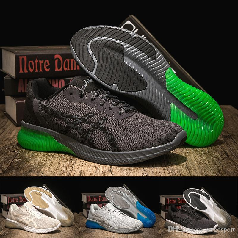 a2b13196d693c Acheter Meilleur Asics Gel KENUN T7C4N 9590 Designer Chaussures De Course  Noir Vert Original Hommes Femmes Athlétisme Baskets Sport Chaussures Bottes  36 45 ...