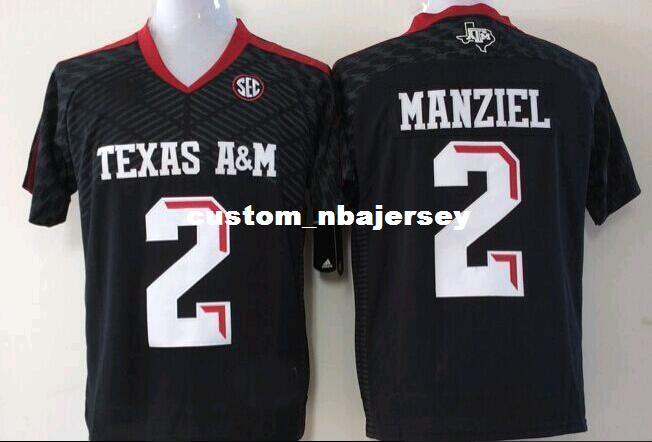 39928e983 2019 Cheap Custom Texas A&M Aggies Johnny Manziel #2 College Black Football  Jersey Stitched XS 3XL From Custom_nbajersey, $37.57 | DHgate.Com