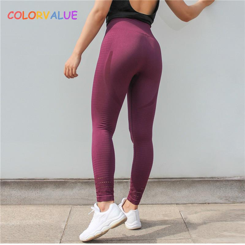 5a94c3af3286b value Super Stretchy Seamless Sport Fitness Leggings Women Tummy Control  Gym Workout Pants Hollow Out Nylon Athletic Tights C19042401 From Shen07,  ...