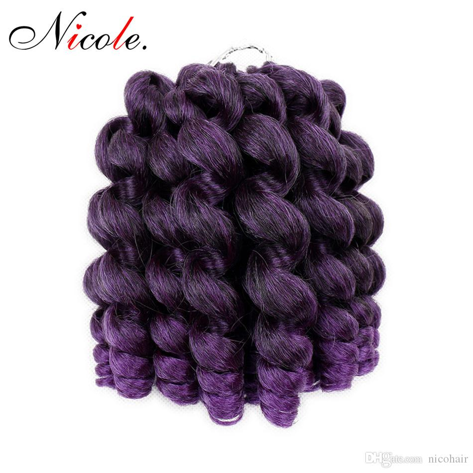 Jumpy Wand Curl Crochet Braids 20 Roots Jamaican Bounce Synthetic Crochet Braiding Twist Hair Extension for Black Women