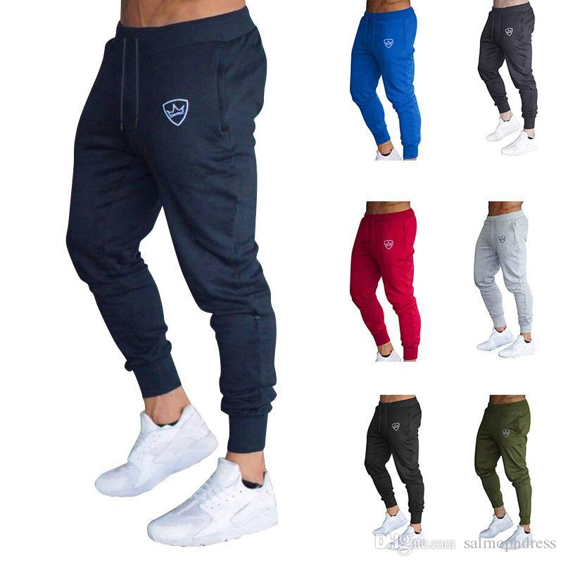 5cee76401099 ... Soild Color Casual Pants Plus Size Fit Fashion Sports Joggers Cotton  Gym Sweatpants Summer Men Clothing M XXL From Salmophdress