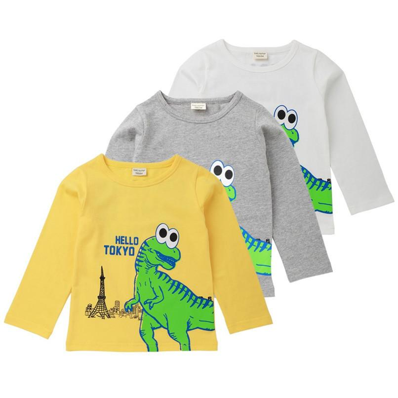 925c7550b Kids Clothes Long Sleeve Baby Clothes Baby Boys Tops And Tees Toddler Kids  Baby Boys Letter Dinosaur Printed T-Shirt Top AU15 F
