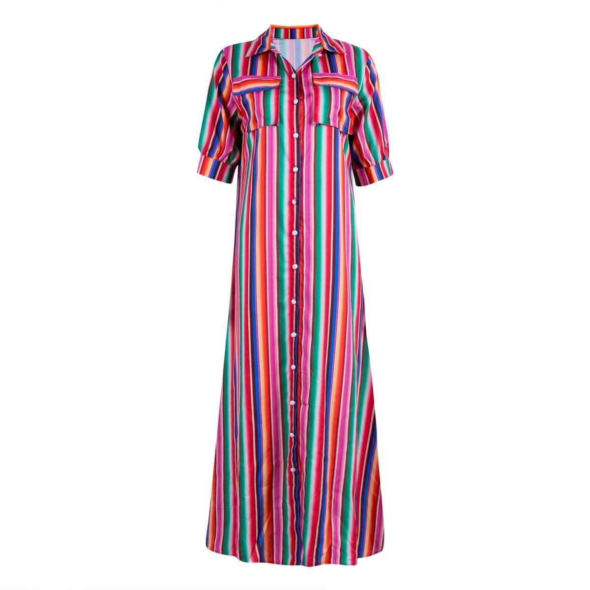 e42f00e7b187 Elegant Woman Boho Long Maxi Dress Fashion Lady Evening Party Summer Beach  Dresses Sundress Striped Shirt Dress Purple Lace Maxi Dress Short And Long  Dress ...