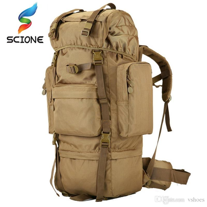 db61e0f63ab8 70 L Large Backpack Outdoor Sports Bag 3P Military Tactical Bags For ...