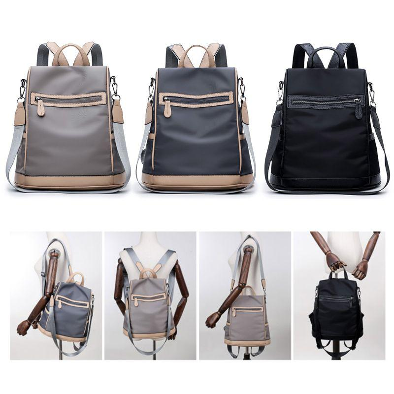 Fashion New Women Girls Anti Theft Backpack Bag Lady Casual Small Nylon  Daypacks Teenager Tote Shoulder School Bookbag Rucksack Laptop Backpacks  Travel ... c3f528d01f142