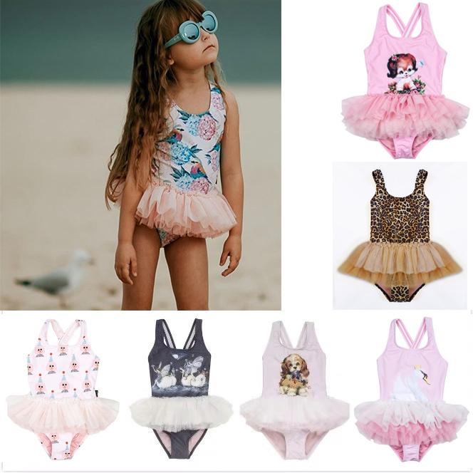 00979036f8f1a 2019 UPF 50+ Kids Swimwear Baby Girls Cartoon Tutu Swimsuit 2019 Summer  Sleeveless Beachwear Infant Clothes Bathing Suit Bobo Choses From  Textgoods10, ...