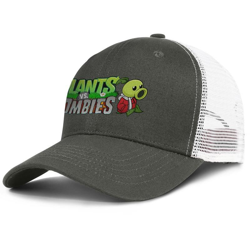 Womens Mens Washed Cap Hut Plain verstellbare Pflanzen vs Zombies Logo Peashooter Rock Punk Cotton Hysteresenhüte Sommerhüte Cadet Army Caps Buc