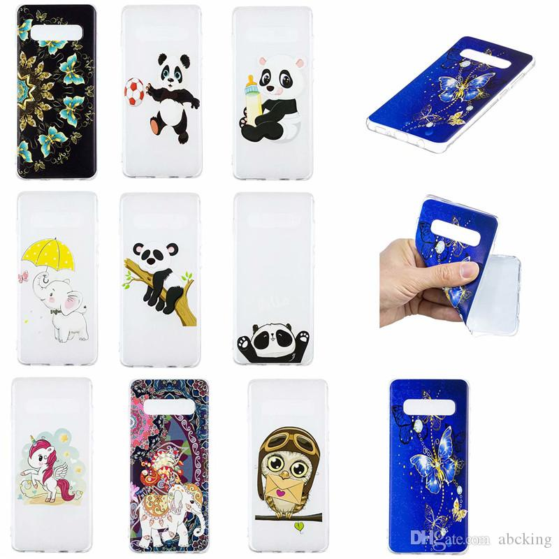 TPU Soft Case For Samsung Galaxy S10e S9 Plus Note 9 case Colorful Printing  Drawing Transparent Silicone Phone Case Cover