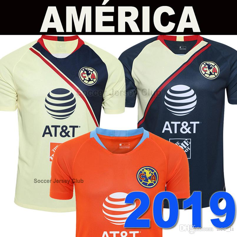 733d08110a9 2019 Club America Soccer Jersey Mexico LIGA MX 2018 2019 R.SAMBUEZA ROMERO  3rd Orange Football Shirt 19 20 Thailand Quality Camiseta De Futbol From  Ace_li, ...