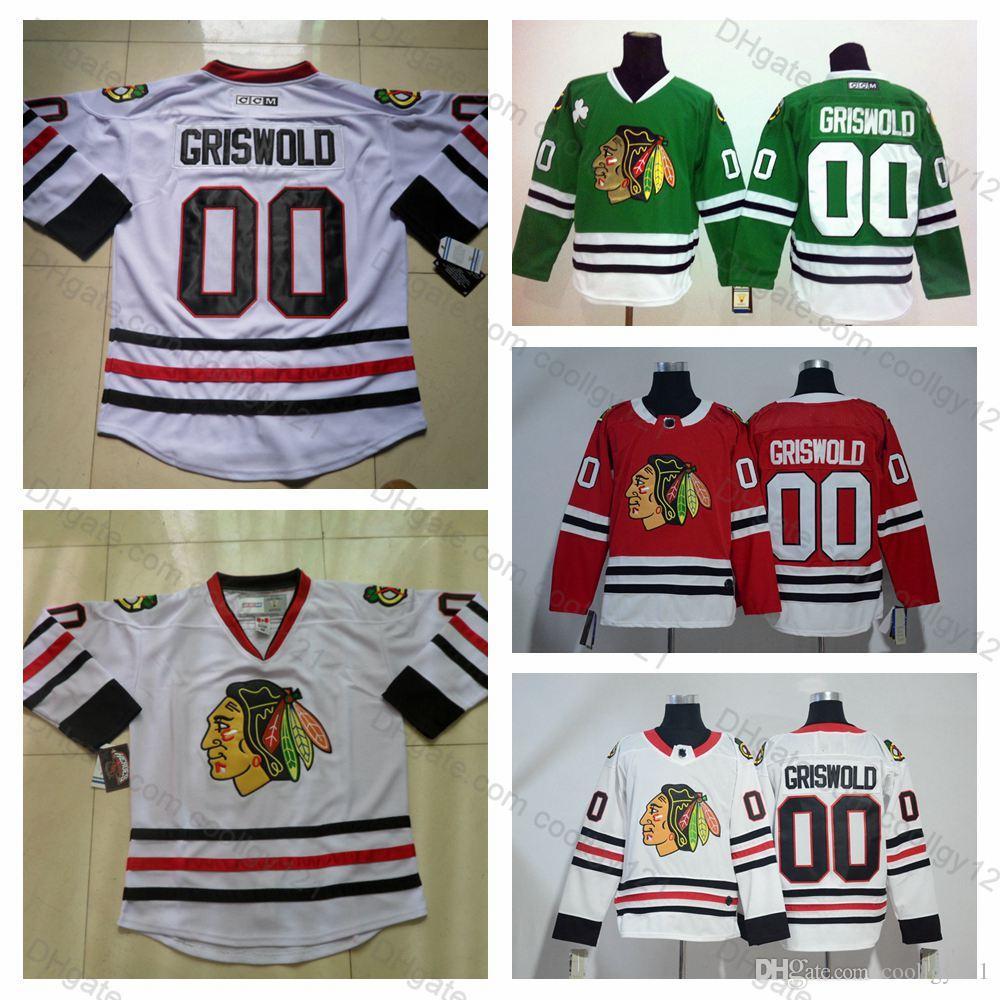 Clark Griswold Jersey  00 Vintage Chicago Blackhawks Clark Griswold ... 8d78324ce