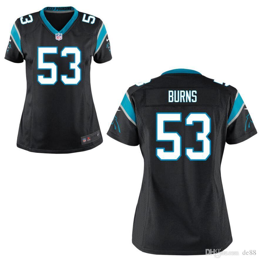 lowest price 2332d 1a949 Draft Brian Burns Christian McCaffrey Jersey Carolina Cam Newton Panthers  Luke Kuechly DJ Moore custom american football jerseys color rush
