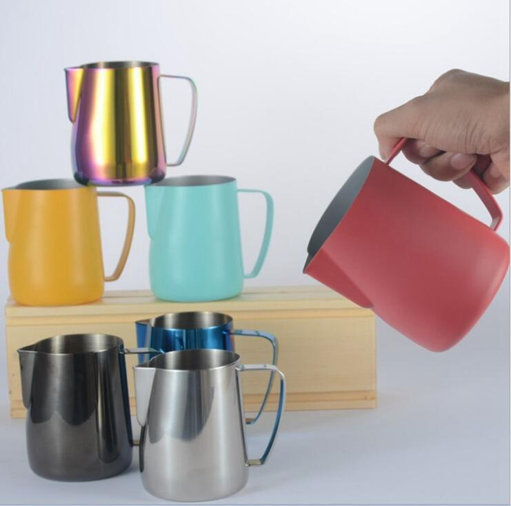 Stainless Mugs 600ml Frothing Foamer Art Steel Latte Cup Dhl Free Jug Pitcher Frother Milk Italian Thick New Coffee gy76fb