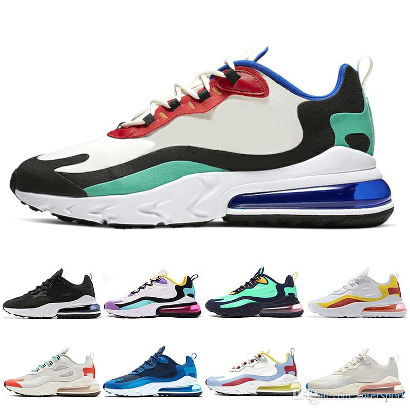 Nike air max 270 react hombres Parra Hot Punch Photo Azul Hombres Mujeres zapatos casuales Triple Blanco Universidad Oliva Voltio Habanero Flair