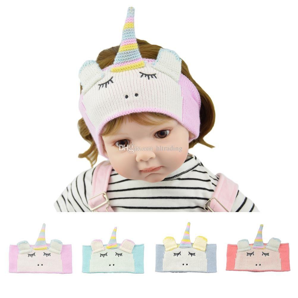 Compre Unicornio Bebé Niñas Diademas De Invierno De Dibujos Animados ...