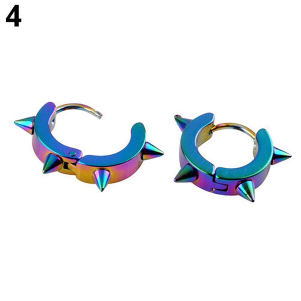 Wholesale Rivet Spike Stud Earrings For Women Men 316L Stainless Steel Black Rock Nail Punk Earrings Female Male Jewelry