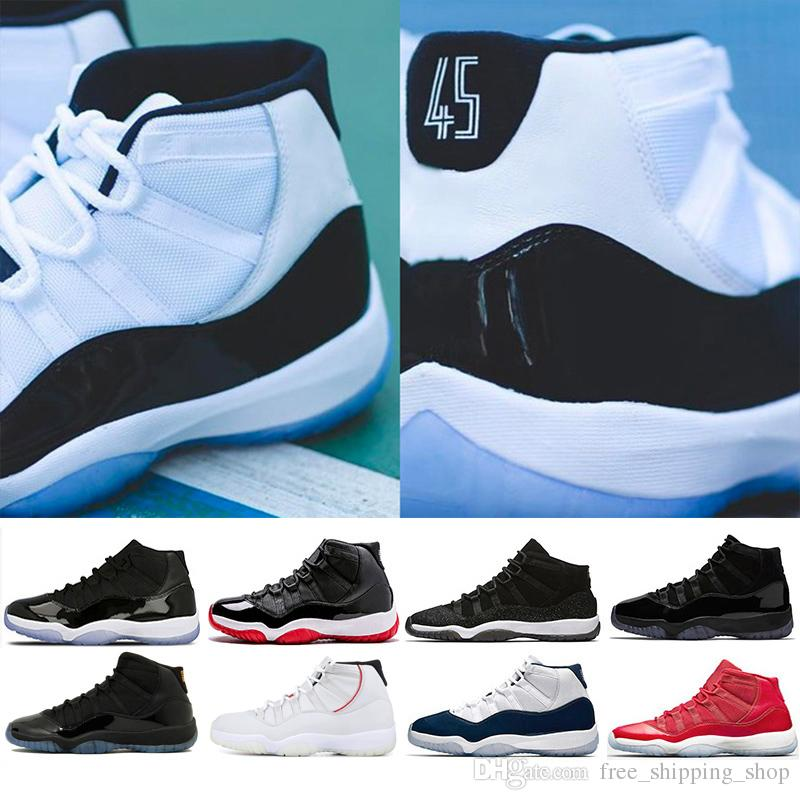 3a4cb7f5154 Designer 11 Concord 45 Men Basketball Shoes For Women Sneaker Platinum Tint  Cap And Gown Gym Red Bred Mens Trainer Sports Jogging Shoe Canada 2019 From  ...