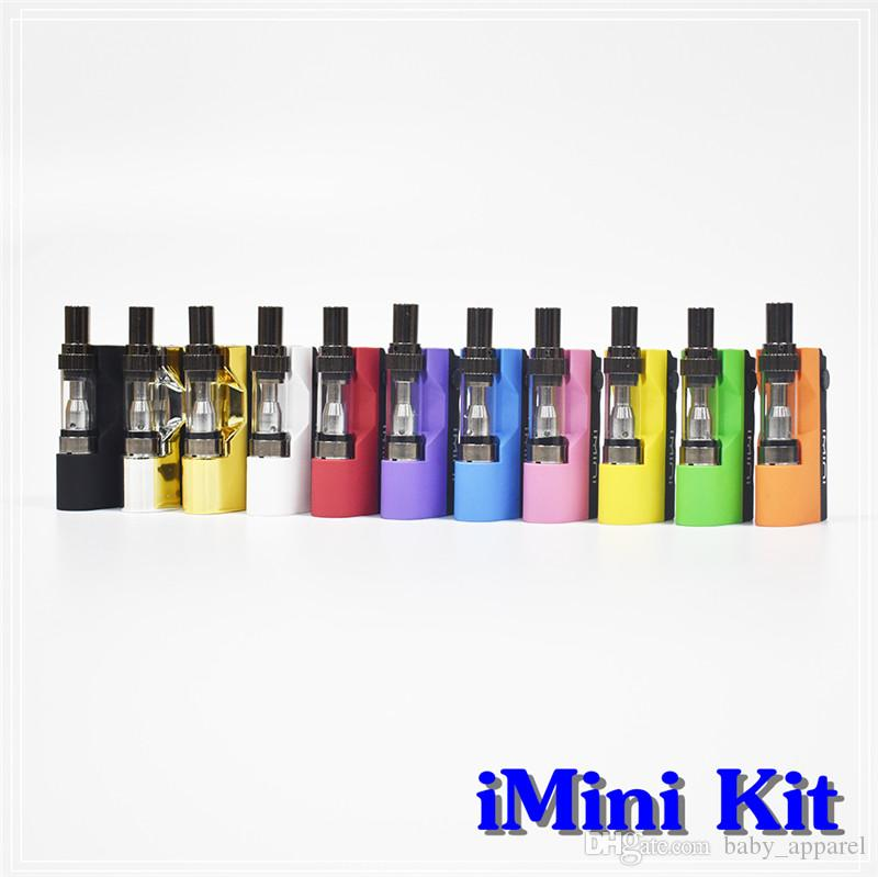 Original imini Vape Pen Catridges Vaporizer Kit Ecig Mod Box Battery 510  Thread Liberty V1 Tank 500mAh Battery Box Mod E-cigarette Kits