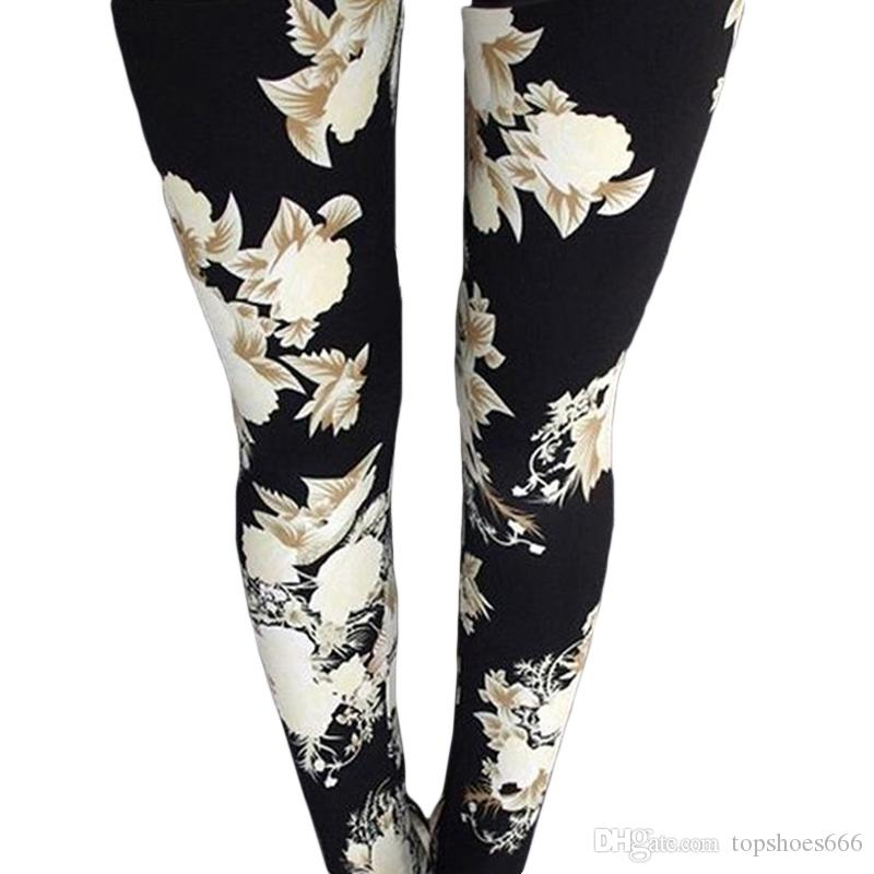 af50e474b448e 2019 Flower Graphic Sport Yoga Legging Women'S Fitness Training Exercise  Joga Pants Workout Gym Jogging Jersey Ladies Yoga Clothing #298777 From  Topshoes666 ...