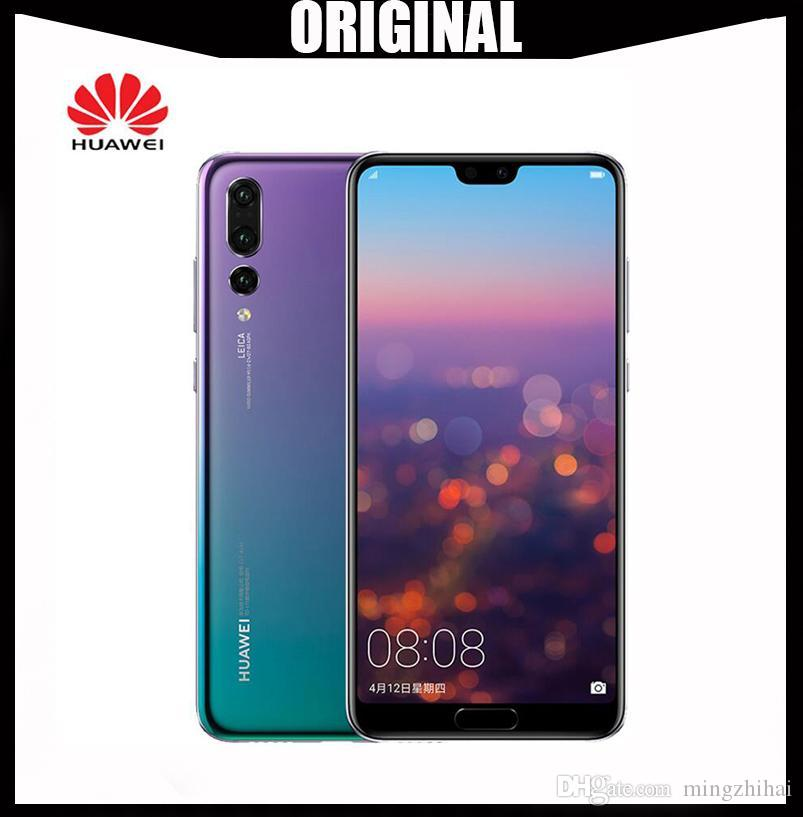 Ursprüngliches Huawei P20 Smartphone Android 8.1 6G RAM 64G / 128G ROM Kirin 970 Face ID 5.8 '' Full View Screen Octa Core Mobile