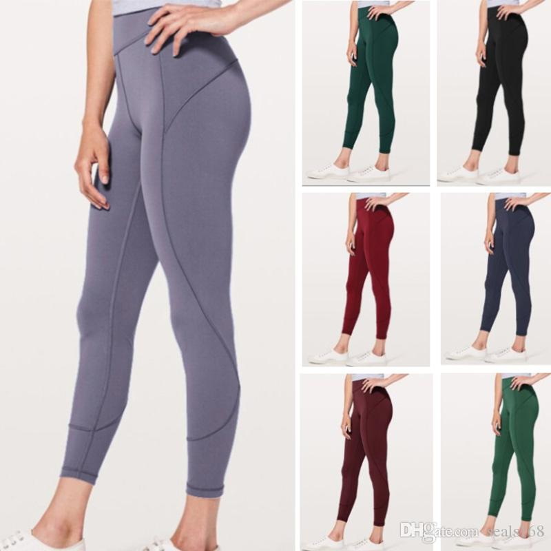 275281ebfb24a6 2019 Leggings Sport Fitness Patchwork Full Length Plus Size Lemon Running  Pants Tights Gym Yoga Pants Women Elastic Tracksuit HH9 2074 From Seals168,  ...