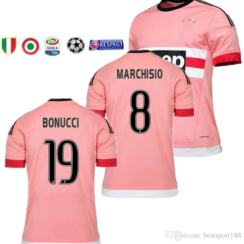 new concept 8dbea daec0 juventus Italy POGBA SOCCER JERSEYS 15 16 RONALDO DYBALA MANEZUKIC MORATA  HIGUAIN MARCHISIO BUFFON Pink Blue MEN SOCCER FOOBALL SHIRT