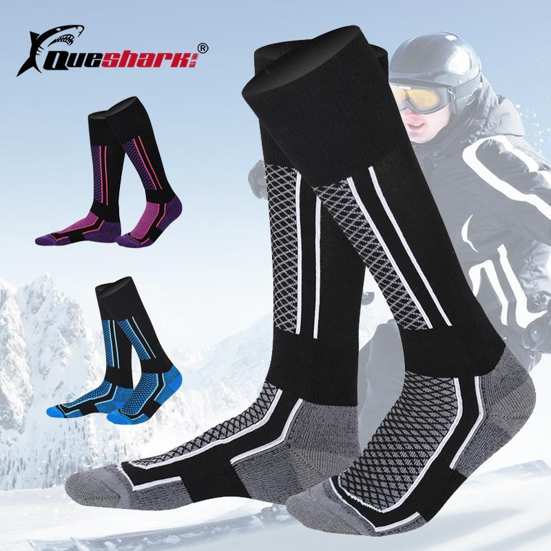 46677eca9 2019 Winter Warm Men Women Thermal Ski Socks Thick Cotton Sports Snowboard  Cycling Skiing Soccer Socks Leg Warmers Long Stockings From Wavewind