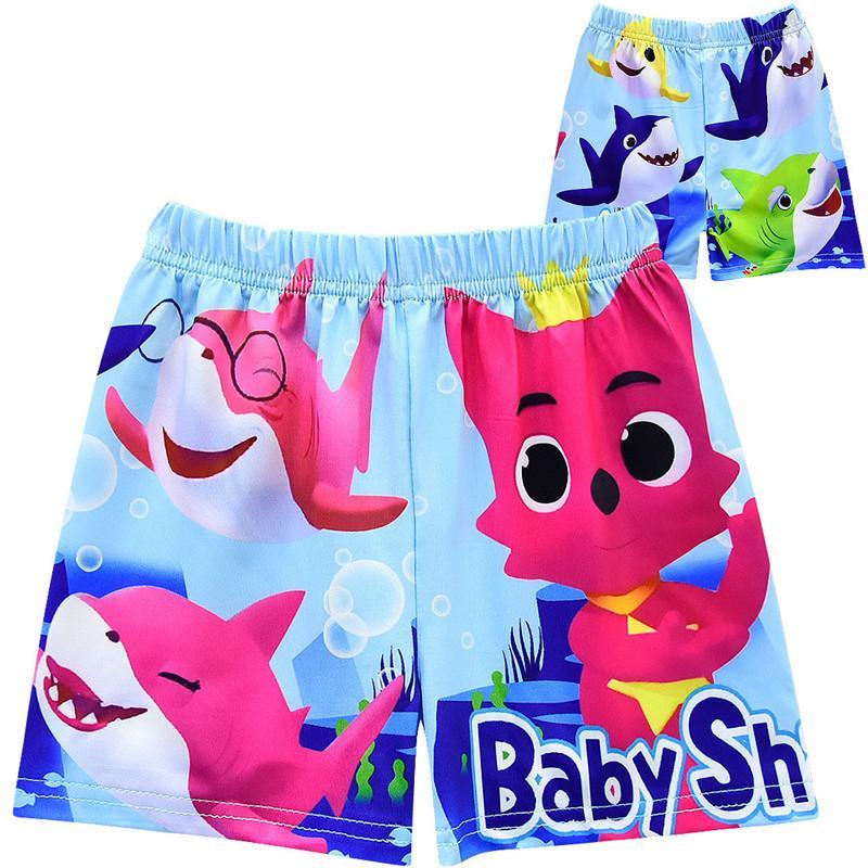 3c72d5b979 2019 Boys Baby Shark Swim Trunks Kids Designer Clothes Tate Shark ...
