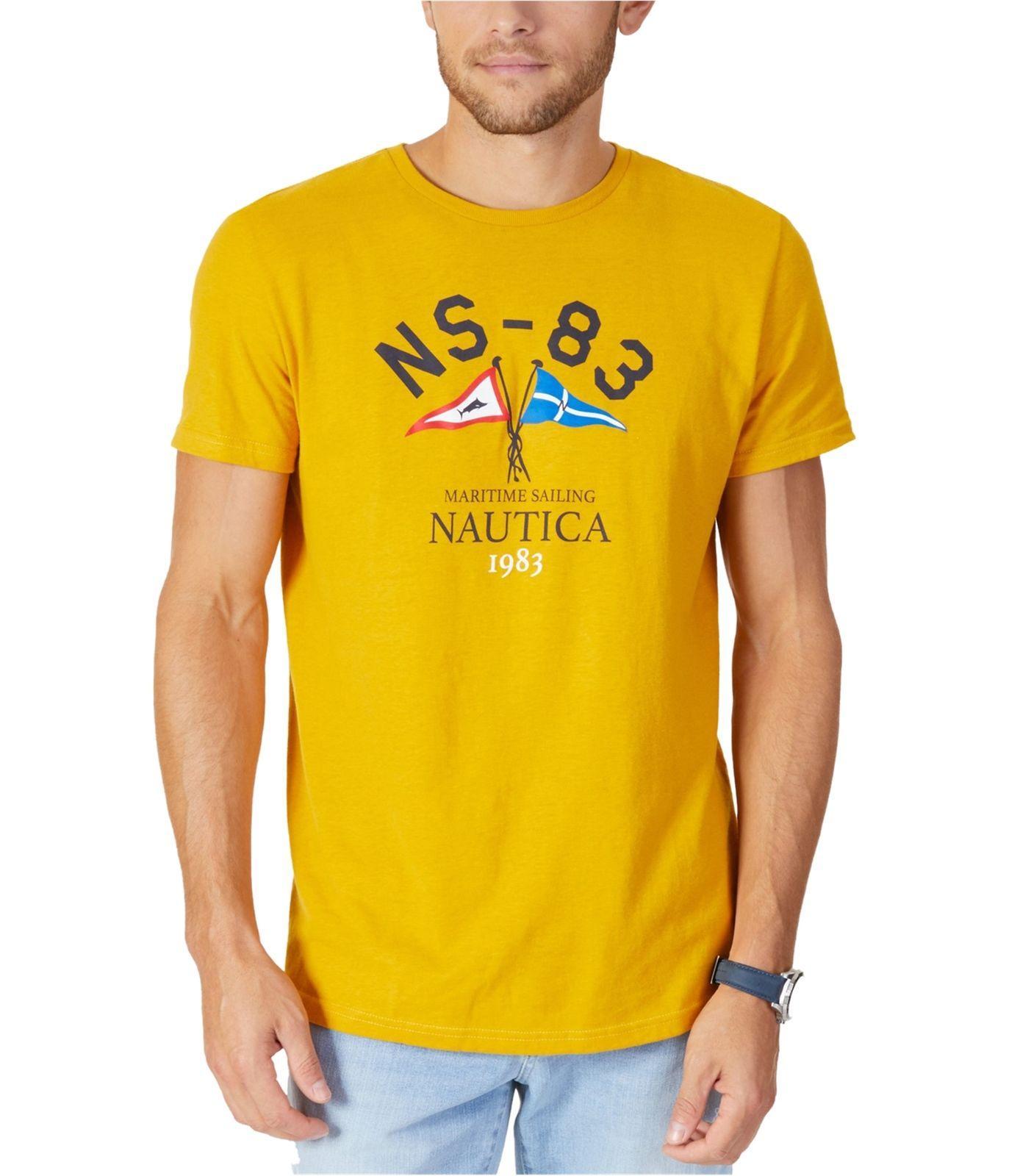 e7f478274e50 Nautica Mens Martime Sailing Graphic T Shirt Men Women Unisex Fashion Tshirt  Funny Cool Top Tee Black Online T Shirt Printing On T Shirts From ...