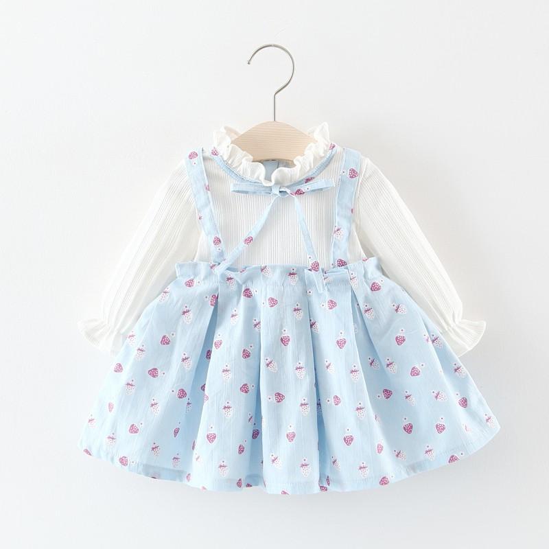 9b41f4e52fd9 Compre Princesa BabyKid Vestido De Niña Bebé Recién Nacido BabyGirl Ropa  Imprimir Falso De Dos Piezas De Primavera Vestidos BabyKid Niña DressY M M  A $42.48 ...
