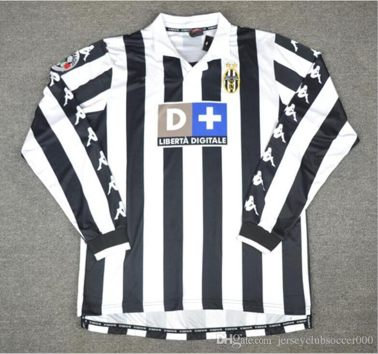 purchase cheap c7310 4460e 99 00 Retro Soccer Jersey Conte Inzaghi Del Piero Zidane Davids 1999 2000  Juve Football Shirts Vintage Camiseta Maillot de Foot