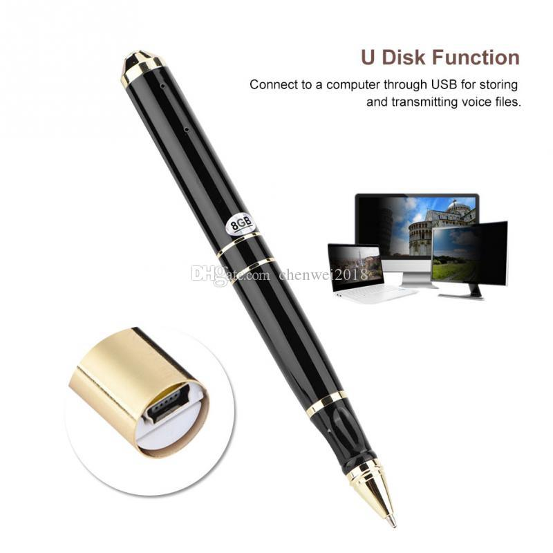 Pen Digital Voice Recorder 8/16GB USB Flash Drive Micro Audio Sound Recording Device Small Dictaphone in Pen Shape Support Memory Extension