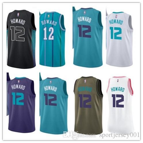timeless design af382 62570 custom 2019 Charlotte Hornet Jerseys #12 Dwight Howard Jerseys  men#WOMEN#YOUTH#Men's Baseball Jersey Majestic basketball jersey