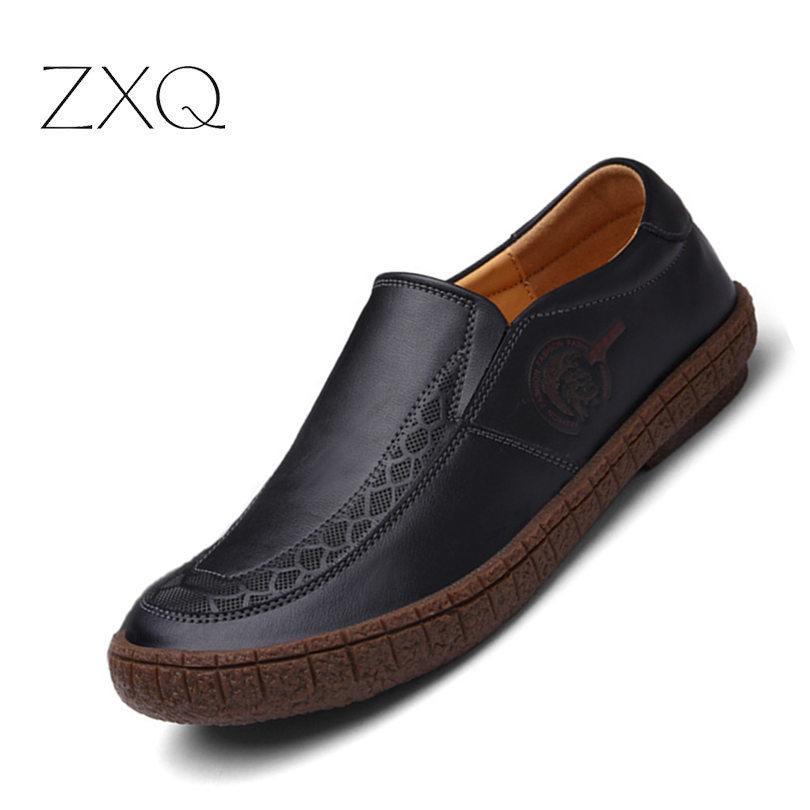 ff22d8559 Compre Mocasín De Cuero Genuino Para Hombre Zapatos De Hombre Negro Pisos  Transpirables Mocasines Italianos Cómodos Zapatos Cómodos Para Conducir A   46.34 ...