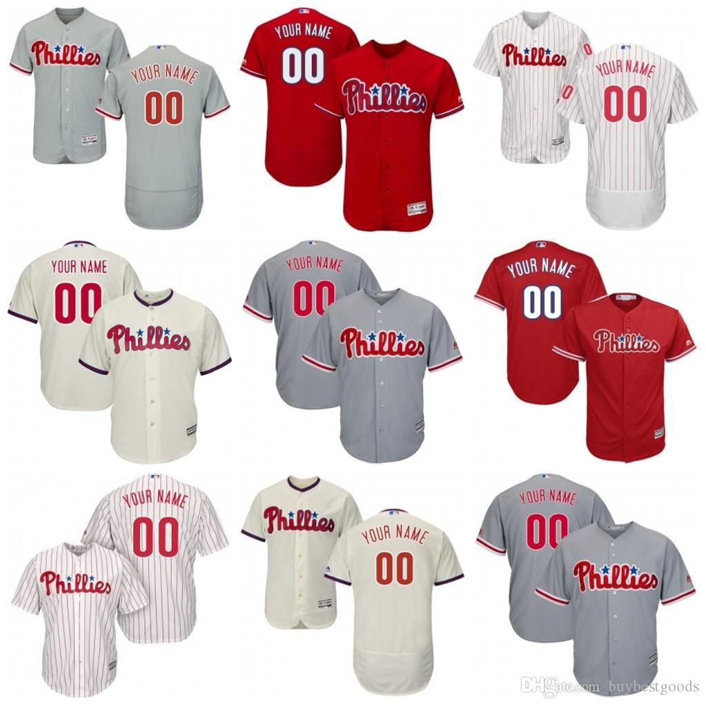 2019 Custom Philadelphia Phillies Jersey Bryce Harper JT Realmuto Segura  Kingery Franco Rhys Hoskins Nola Schmidt Halladay From Buybestgoods 5d3de0ca823