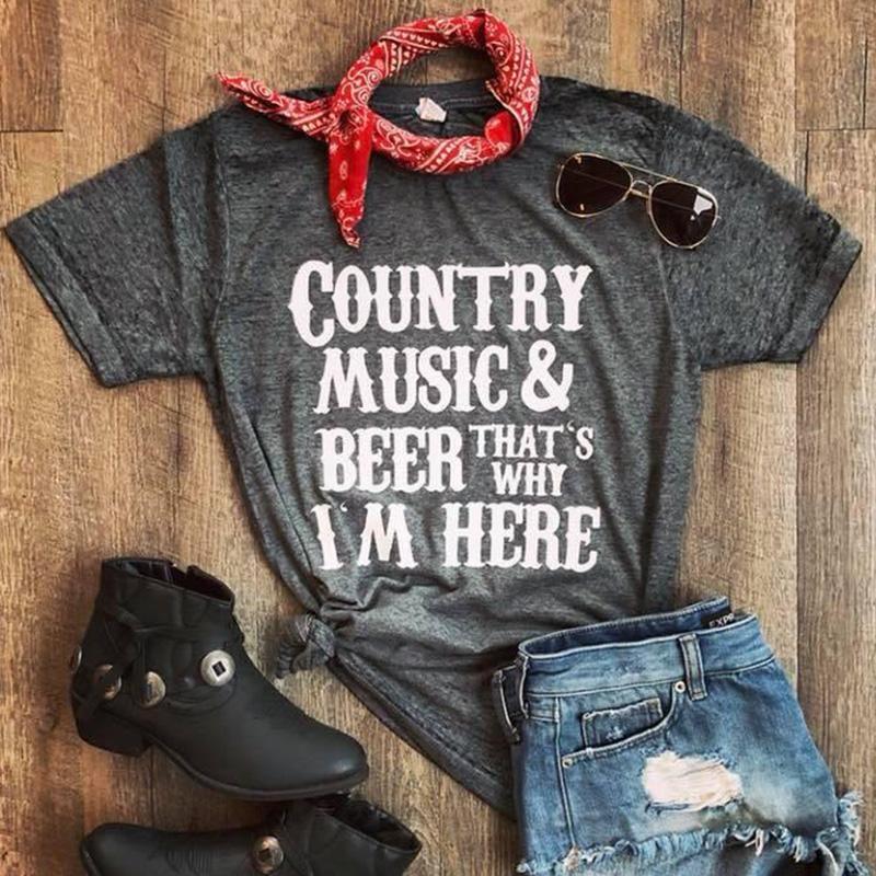 b4becca2 Country T Shirts Women Top Female Floral Print Tshirt Womens Fashion 2019  Graphic Tops Thanksgiving Shirt Streetwear Casual Funny Slogan T Shirts  Cool Shirt ...