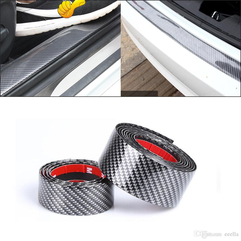 En caoutchouc pare-chocs de voiture caoutchouc arri/ère garde pare-chocs protecteur autocollant de voiture protecteur noir rouge