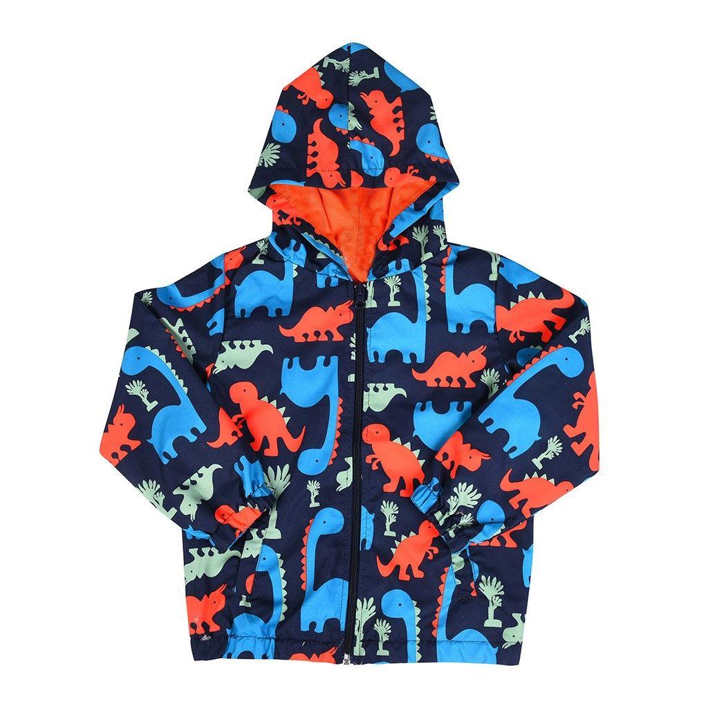 Compre Niños Chaqueta De Dibujos Animados Dinosaurio Imprimir Chaqueta Para  Niños Niño Niñas Outwear Niños Con Capucha A Prueba De Viento Impermeable  ... 1e8e25030dd