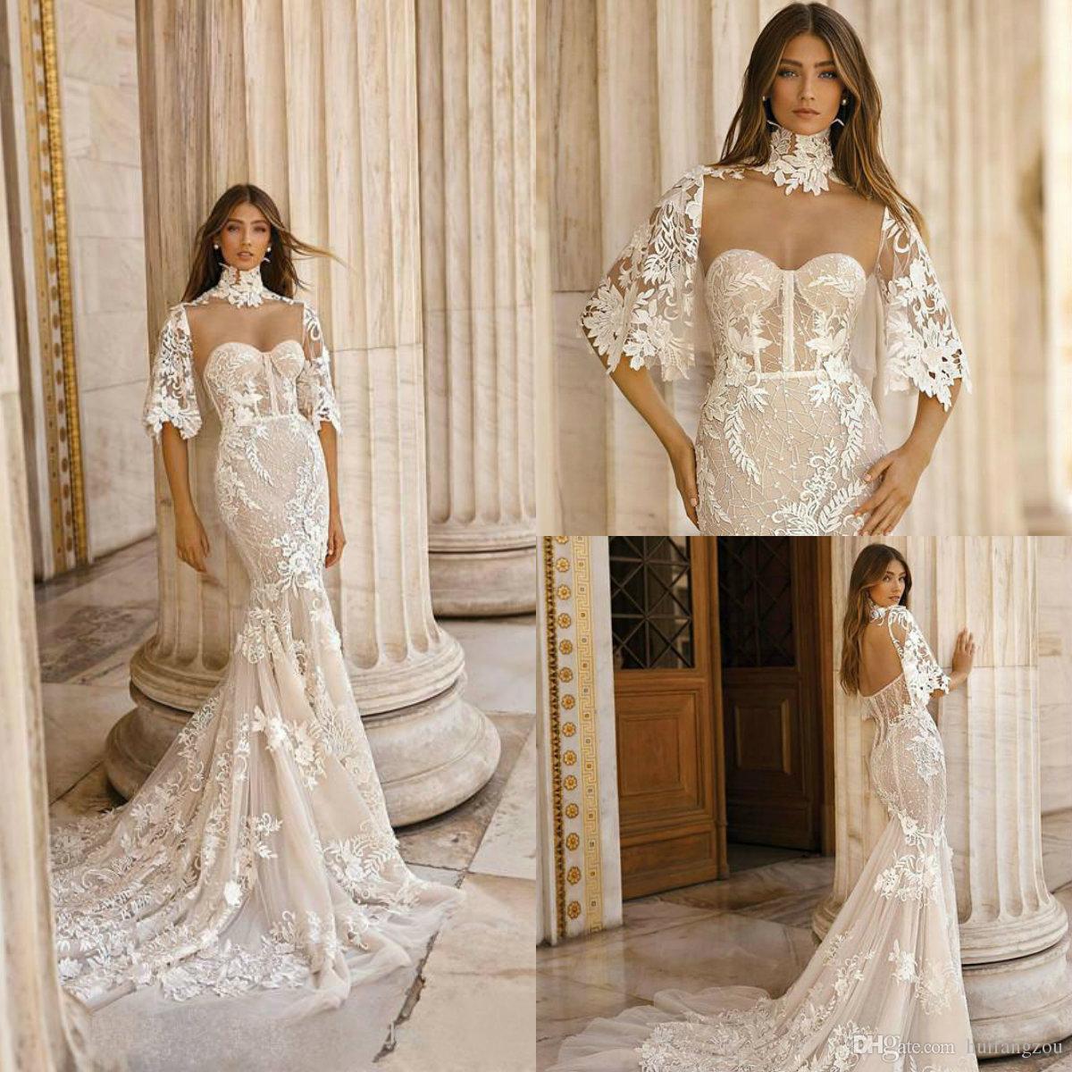 6e7b9cdd5bdd Berta 2019 Mermaid Wedding Dresses With Wrap Sweetheart Lace Vintage Wedding  Dress Vestidos De Noiva Custom Made Beach Bridal Gowns Shop Wedding Dress  ...