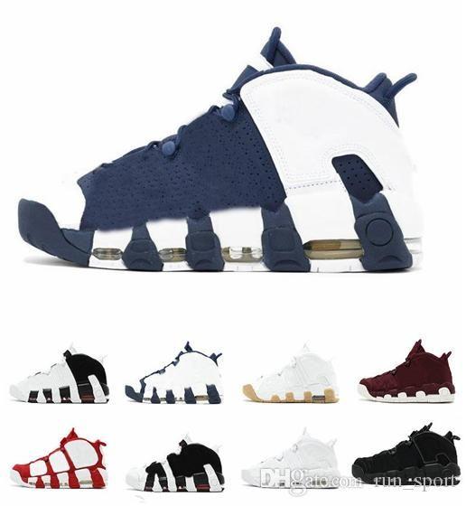 buy online 811df e535a Compre High Quality Man Air Más Uptempo SUPTEMPO Mid Gold Black Para Los  Zapatos De Baloncesto De Los Hombres Zapatillas De Deporte Scottie Pippen  Zapatos ...