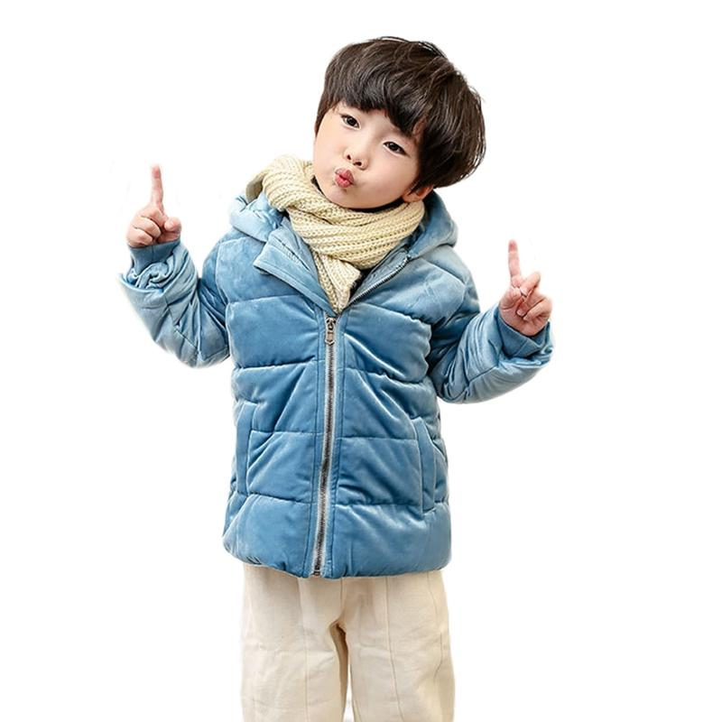4799bd2598a New Winter Kids Baby Coats Clothes Girls Thick Hooded Snowsuit ...
