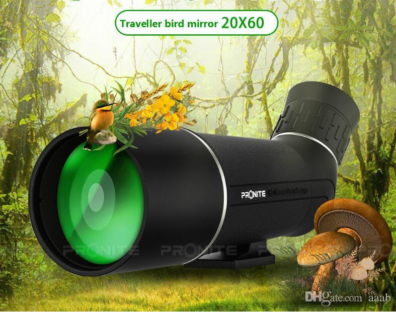 PRONITE Outdoor mountaineering monocular 20x60 monocular telescope bird watching target high-definition low-light night vision