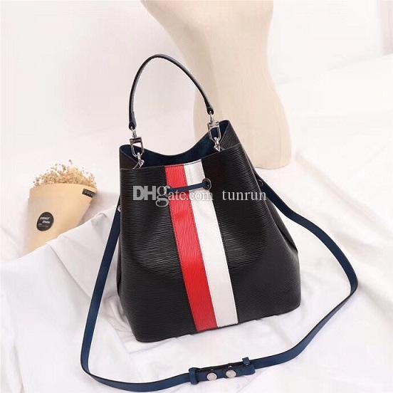 Best quality shoulder bags Noé leather bucket bag women brands designer handbags high quality mono print crossbody purse TWIST 44022