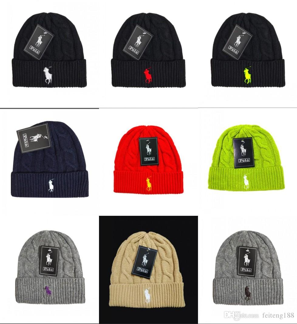 2019 Fashion Unisex Spring Winter Hats for Men Women Knitted Beanie ... 9b46f040a92e