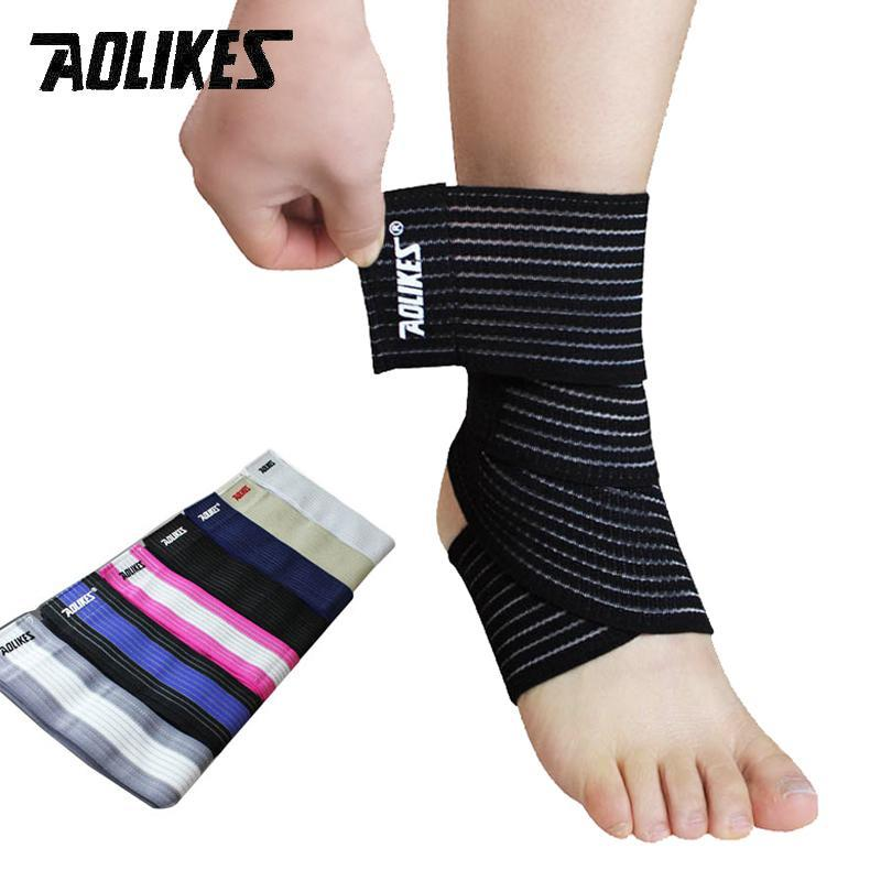Ankle Support 1pair Elastic Nylon Ankle Straps Sports Nylon Ankle Support Wrap Foot Bandage Brace Straps Badminton Basketball Football Fitness Great Varieties