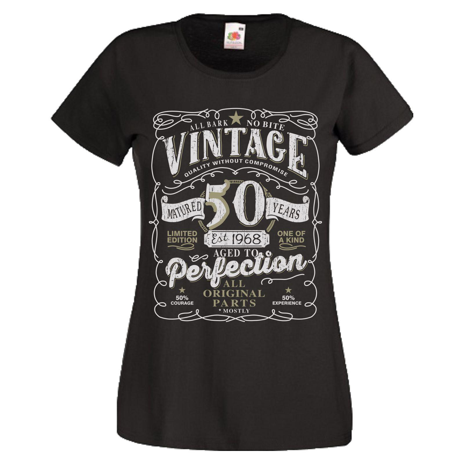 50th Birthday Gift T Shirt Vintage 1968 Original Parts 50 Years Mens Women TopFunny Unisex Casual Tshirt Top Comedy Humorous From Mvptshirt