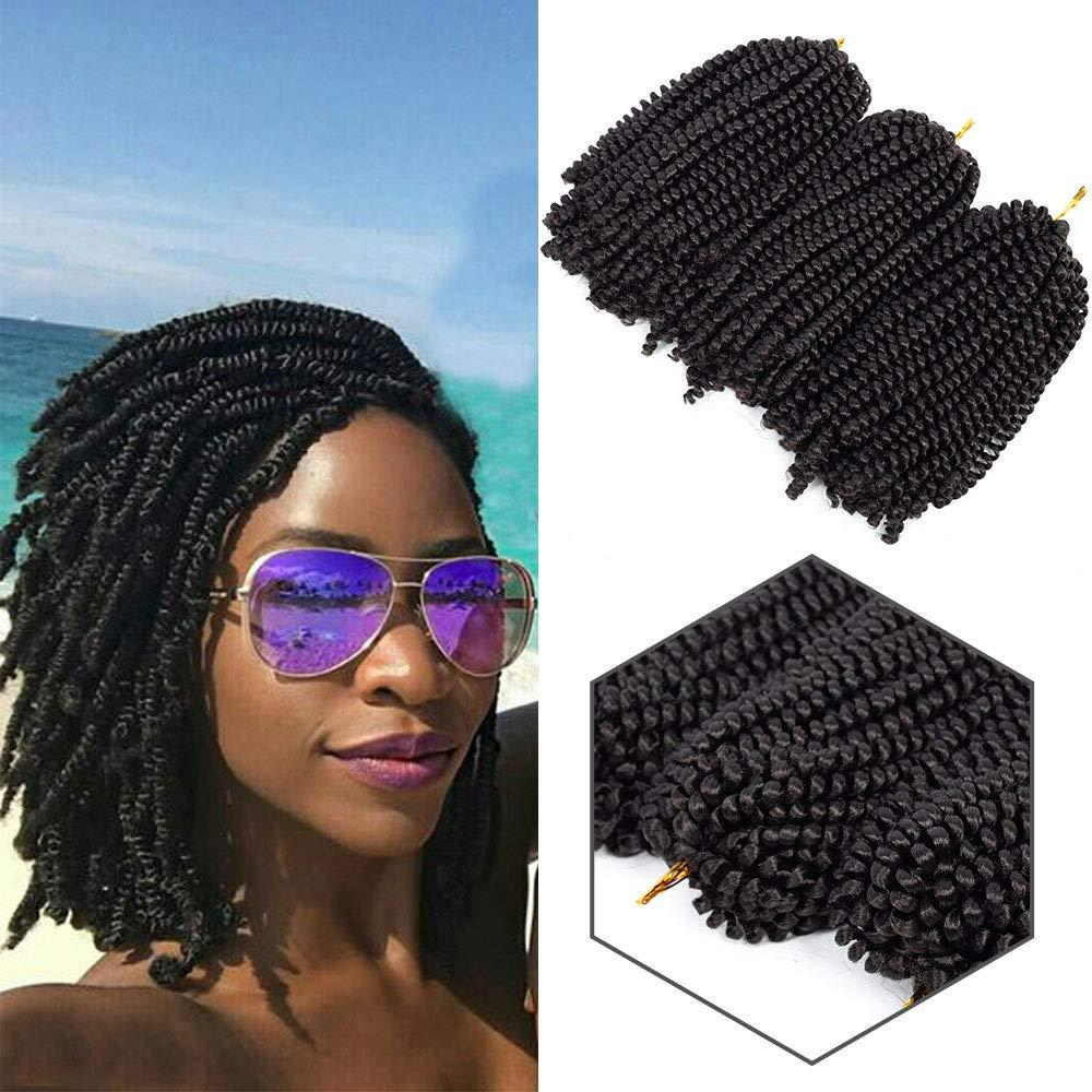 2019 New Style 8 Inch Spring Twist Crochet Hair Kinky Synthetic